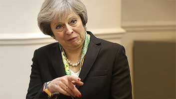 Theresa May in quarantine at Tory HQ after contact with real member of public