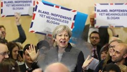 """Mrs May was speaking to supporters in Reading and as she said that she would support and  ..."