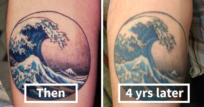 Thinking Of Getting A Tattoo? These 10+ Pics Reveal How Tattoos Age Over Time | Bored Panda