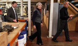 Tories under fire for banning local paper from filming Theresa May | Politics | The Guardian