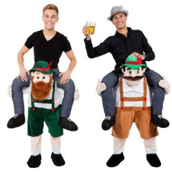 Carry Me Bavarian Beer Guy Ride On Oktoberfest Mascot New Fancy Dress Costume