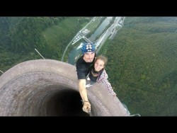 Climbing the tallest chimney in Europe – YouTube