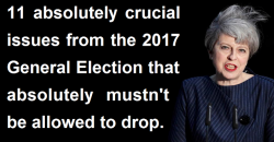 11 General Election 2017 issues that mustn't be allowed to drop