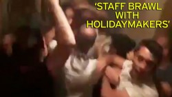 Hotel staff brawl with British holidaymakers after huge blaze breaks out at Turkish resort &#821 ...