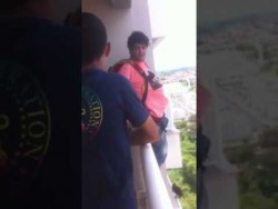 Man buys a parachute off the internet and jumps from his balcony