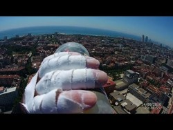 the french spiderman climb Sky Melia Barcelona – YouTube