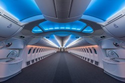 An empty Boeing 787 dreamliner