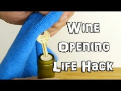 How to Open Wine in an Emergency with a Key – Life Hack – YouTube