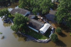 Texas Man Uses Massive Inflatable Dam to Save House