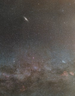 The milky way and Andromeda galaxy in the same shot