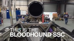 Bloodhound supersonic car team preparing for 1,000mph land speed record bid tests at Newquay  ...