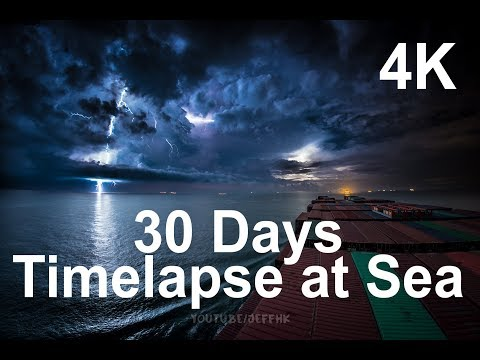 30 Days Timelapse at Sea | 4K | Through Thunderstorms, Torrential Rain & Busy Traffic – YouTube