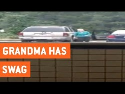 Grandma Dancing In Parking Lot | Dancing By Myself – YouTube