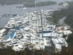 Hurricane Irma destroys hundreds of yachts in the BVI