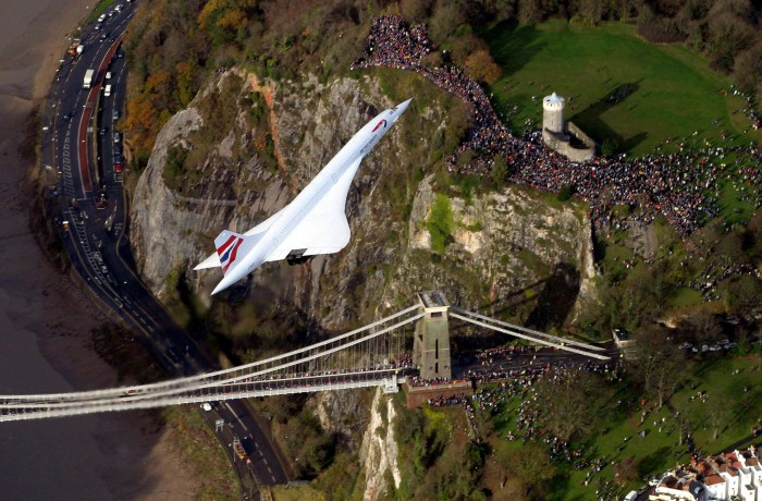 Concords final flight over Britsol