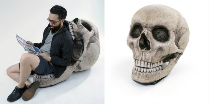 Giant skull chair with movable jaw 		 		 |   		Dangerous Minds