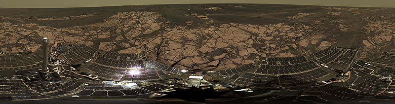 The opportunity rover just completed its 5000th day on the surface of Mars. It was originally in ...