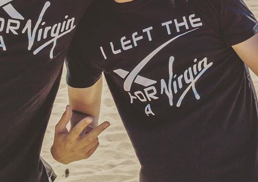 Ex-SpaceX employees at Virgin Galactic are given this shirt
