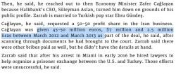 "ilhan tanir on Twitter: ""So PM Erdogan's Economy Minister Z.Caglayan shuffled billio ..."