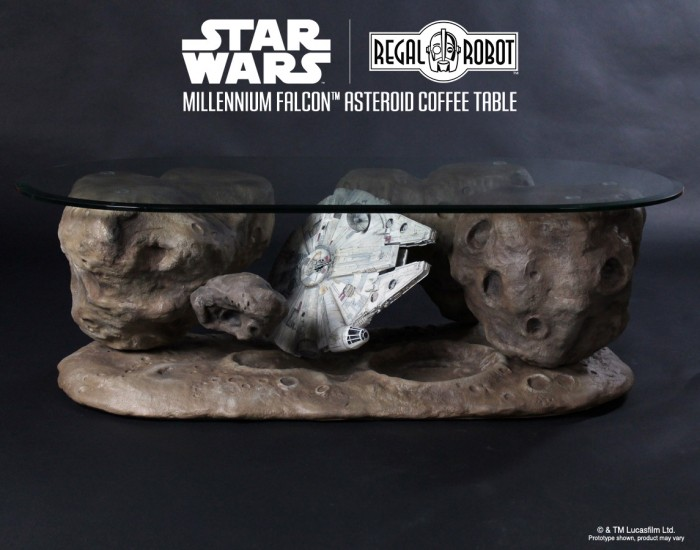 Millennium Falcon™ Asteroid Coffee Table – Regal Robot