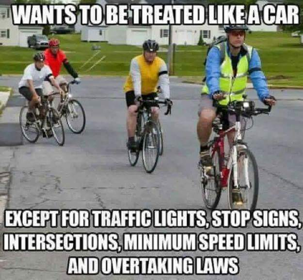I hate road cyclists