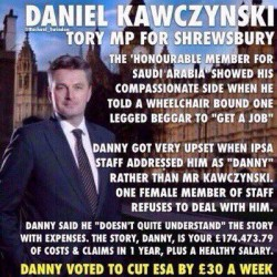 entitled Tory scum