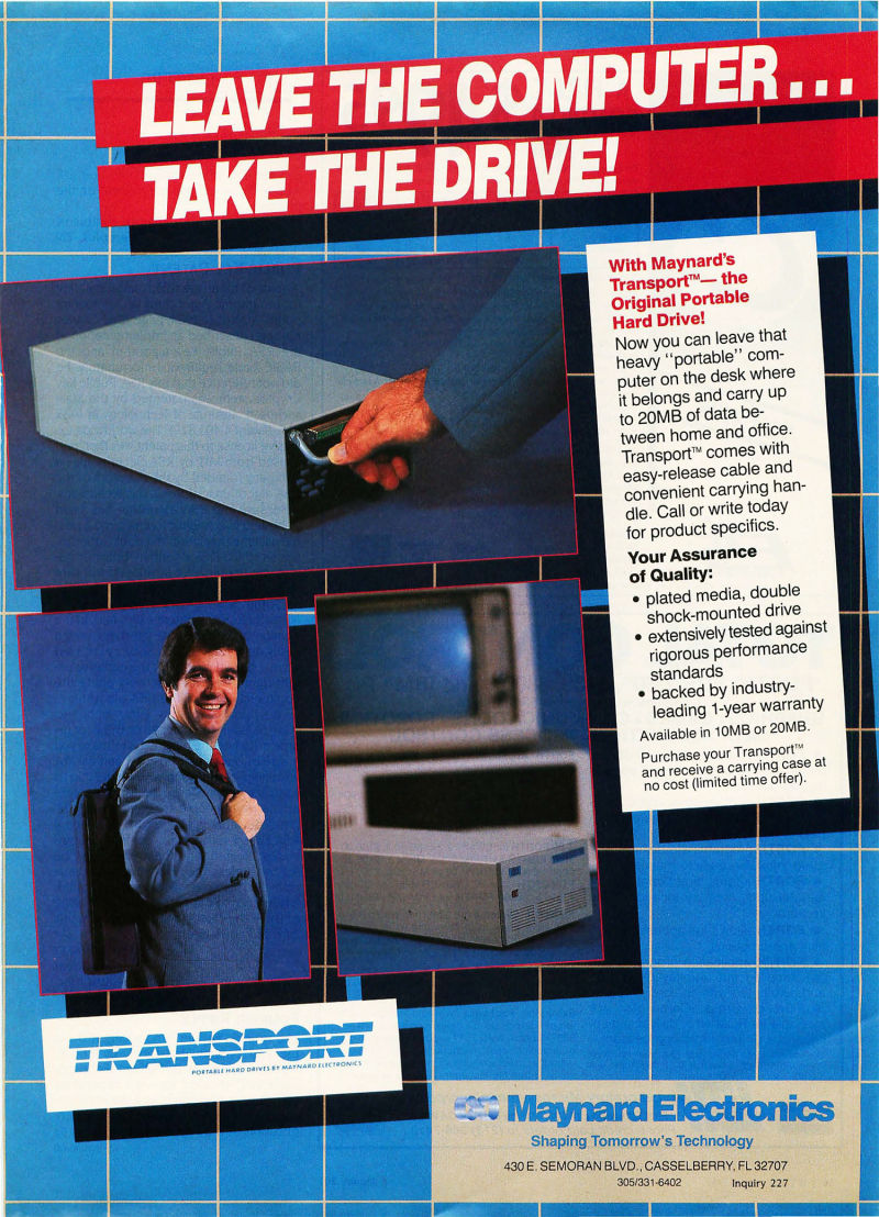 "The first ""portable"" hard drive, up to 20Mb!"