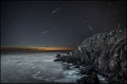 Meteors over Bottalack Crown Engine houses