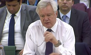 MPs feared a David Davis cover-up. Worse, he had nothing to hide   Politics   The Guardian