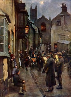 Christmas Eve by Stanhope Forbes  The Dock Inn , Penzance . Nadelik Lowen …Happy Christmas