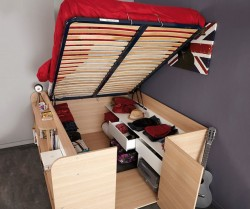 parisot space up double bed with under bed storage