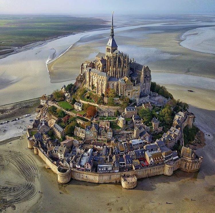Mont San Michel at low tide
