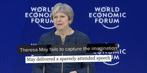 Media delivers brutal verdict on Theresa May's Davos speech | Political Scrapbook