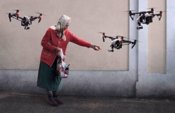 Please do not feed the drones.