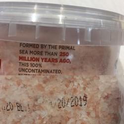 This 250 million year old salt expires next year.