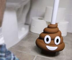 Poop emoji toilet plunger