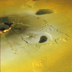 Active Volcano on Jupiter's Moon Io