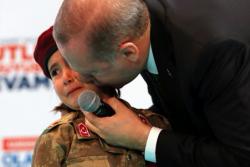 Erdoğan exploits little girl in military uniform, says she is ready for 'martyrdom'