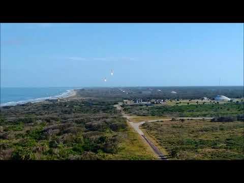 FALCON HEAVY LANDING 02/06/2018 – YouTube