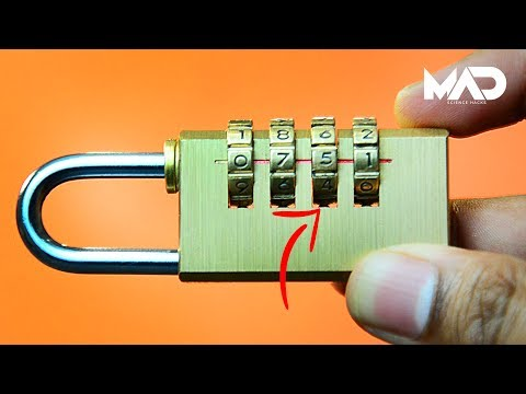 How to crack a combination lock in seconds! – NO TOOLS (life hack) – YouTube