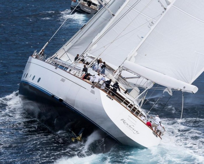 Wow, is there even a keel on that thing? Rosehearty in Perini Navi Cup