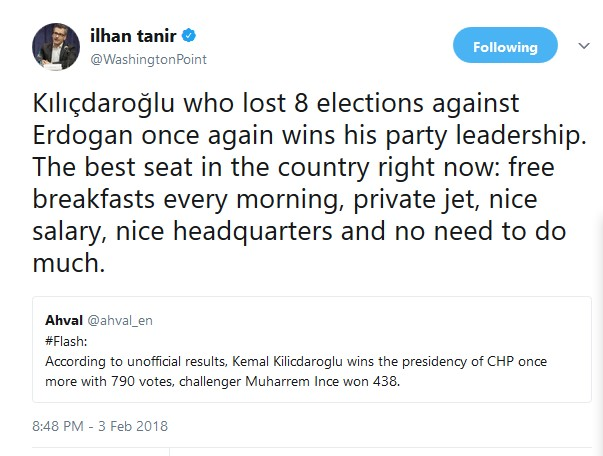What does it take to be unseated? 8 losses!? The guy HAS to be on the AKP payroll