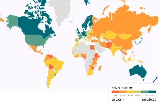 Turkey Ranked 101st Among 113 Countries in Rule of Law Index – english