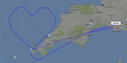 Virgin Atlantic plane takes heart-shape flight path on Valentine's Day – Business In ...