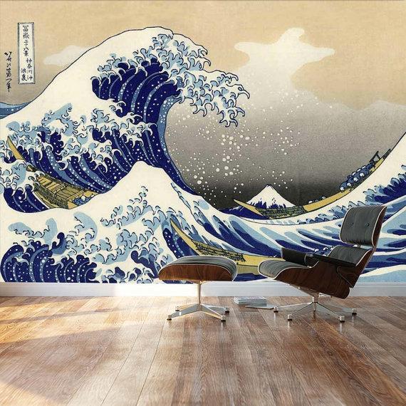 Wall26  The Great Wave off Kanagawa by Katsushika Hokusai