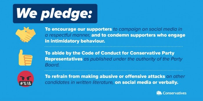 Tory's completely useless and ignored code of conduct pledge
