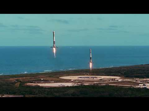 FalconAn amazing testament to SpaceX and Elon Musk that now these launches and incredible landings of reuseable boosters are common and almost mundane. Great video from SpaceX. Heavy & Starman – YouTube