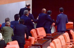HDP MP Toğrul's Shoulder Broken by AKP MPs in Parliament – english