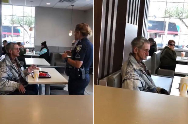 Homeless man kicked out of McDonald's after customer buys him food | New York Post