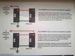 Multiple caravan leisure batteries